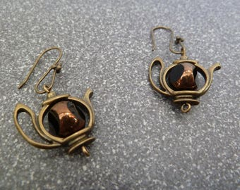 "Dangling earrings ""tea time"""