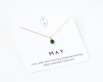 Delicate Birthstone Necklace | Dainty Birthstone  | Birthstone Jewelry | Gift for Mom | Gift for Her | Simple Necklace | Mother's Day Gift