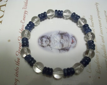 Quartz- Kyanite ~Therapeutic Quality Gemstone Energy Bracelet for Healing 6-8mm