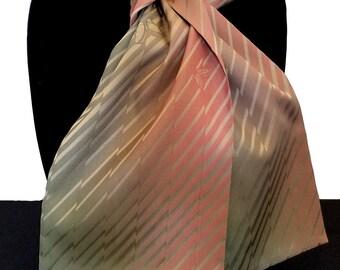 Kimono Scarf S8517 - celery stripes