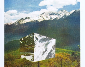 Limited Edition A3 Risograph Print (Mountain Cube)