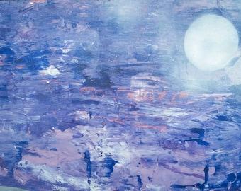 Blue ocean, art print, original acrylic Painting canvas art modern canvas Giclee Print, abstract living room abstract art print modern art