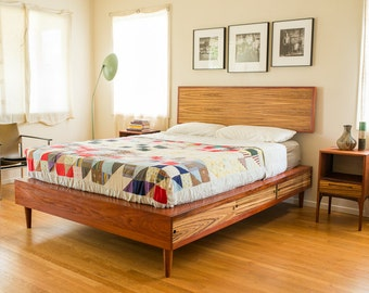 Storage Bed With Night Stands