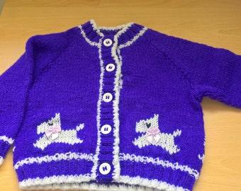 Girls knitted cardigan set