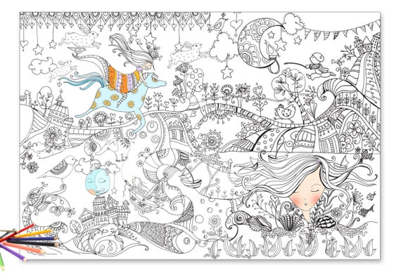 Giant coloring Coloring poster giant coloring page poster