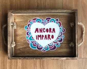 Ancora Imparo Painted Serving Tray
