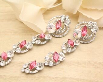 Wedding earrings for brides Chandelier earrings Bridesamid earrings Crystal Bridal earrings Rhinestone earrings Crystal earrings dangle boho