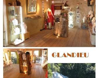 map postcard glandieu gastyne workshop
