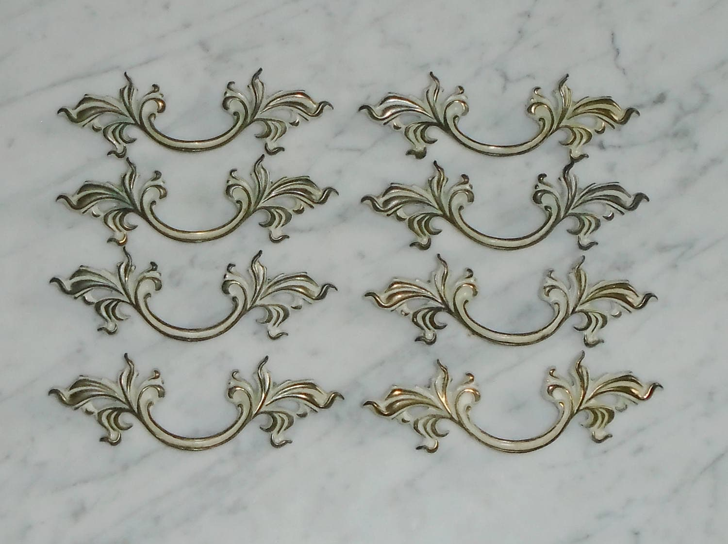 8 Vintage French Provincial 5 3/4 inch Long Brass Bronze Cabinet ...