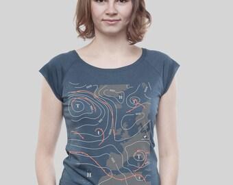 """Bamboo Shirt Women Denim Blue """"Weather"""""""