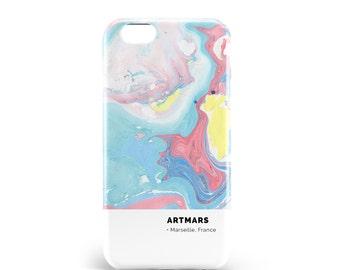 Colorful marble case. PVC. iPhone 6s, 6s, 7, 7 more, 8, 8 more. Samsung S6, S6 Edge, S7, S7 Edge S8 + S8, illustration, design, en