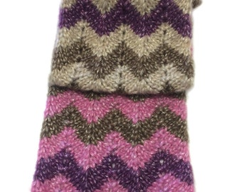 Chevron Scarf Knitting Pattern WM2053