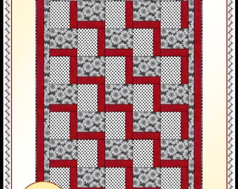 Downloadable Stepping Up Quilt Pattern Easy 3 Yard Design