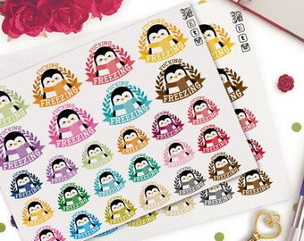 Penguins Freezing Weather Planner Stickers |  Animals | Cute | Swear Words | Cold | Winter