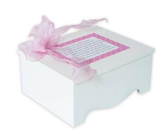 Baby Keepsake Box Baby Memory Box precious baby poem pink stars personalized baby girl gift best baby shower gift