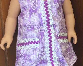 Purple Summer Doll Dress