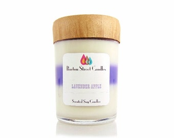 Lavender Apple Scented Woodwick Candle