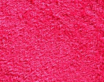 Hilco Zottelchen pink micro fur fabric European new 1 yard