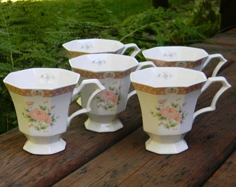 Vintage Octagonal Nikko Tea Cups, Classic Collection Tea Cups, Vintage Teacups, Vintage Mugs