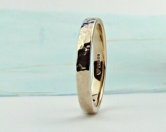 Rose Gold Wedding Ring - Forged - gold wedding band - rose gold ring-rose gold wedding ring-rose gold wedding band-gold wedding ring-sinergy
