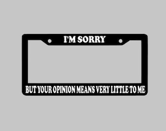 Rick And Morty Custom License Plate Frame, Black Frame With Your Choice Of Font Color, Personalized Car Accessories