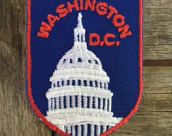 Washington DC Vintage Souvenir Travel Patch from Voyager