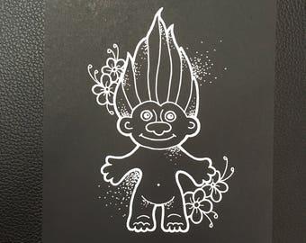 Troll doll print