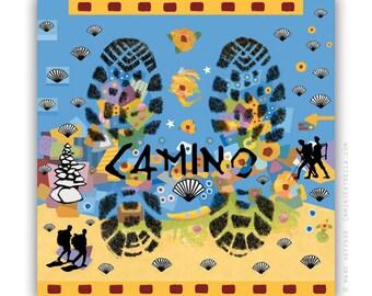"""Greeting Card """"Camino de Santiago Footprints"""" Camino de Santiago"""