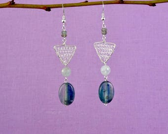 Kyanite dangle earring