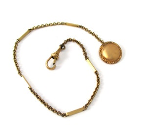Beautiful Vintage/Antique Gold Fill Pocket Watch Chain
