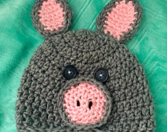 Piggy Hat for Small Child