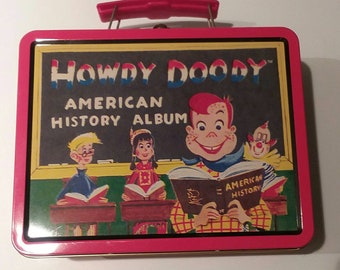 New Howdy Doody Characters American History Collectable Lunch Box Tote TV Show 1949 Album Cover