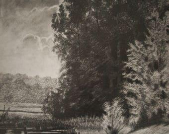 Pencil Drawing Landscape, Pencil Drawing, Drawings