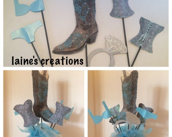 Boots and Bling picks for centerpieces six pieces included