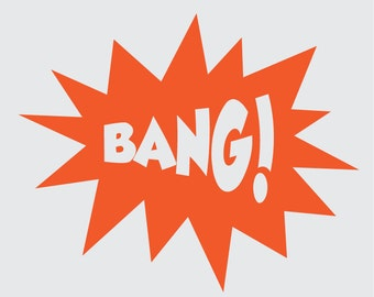 POW! BANG! ZIP! Zonk! Ka-Blam! Large Comic Book Onomatopoeia Vinyl Wall Decals