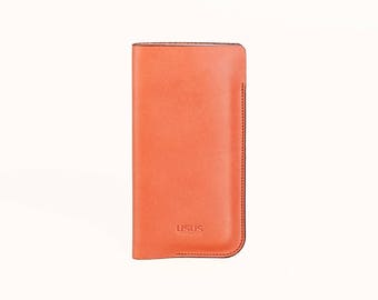 Leather iPhone 7/7S // 6/6S  //  saddle tan  //  vegetable tanned italien leather // FREE SHIPPING
