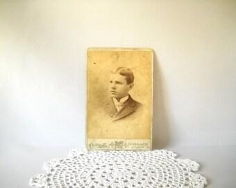 Vintage Photograph Cabinet Photo Antique Cab Card Paper Ephemera Edwardian Sepia Black & White Photograph Instant Ancestors