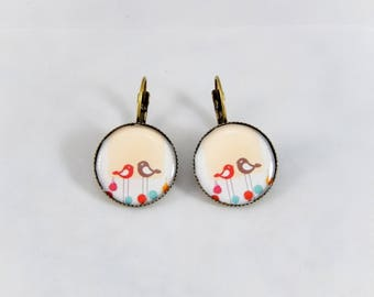 Earrings retro earrings vintage birds