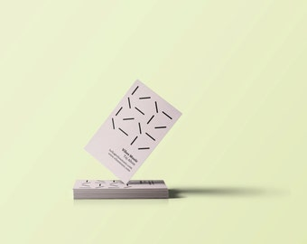 Binary Rhythm Business Cards // DIY Business Cards // Printable Business Cards // Instant Download // Word, Photoshop + Illustrator Files