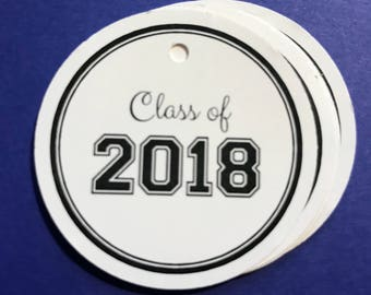 Class of 2018 / Graduation Gift tags / Favor tags / set of 10