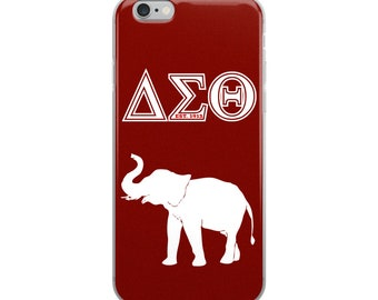 Delta Sigma Theta Elephant iPhone Case