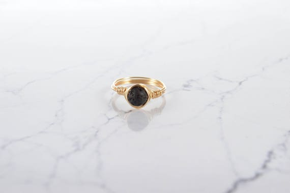 Black Lava Ring