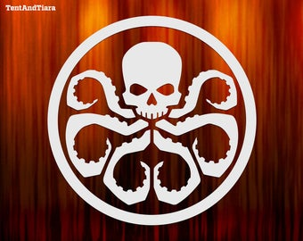 Hydra Logo - Vinyl Decal, Car Decal, Laptop Decal, Water Bottle Decal, Bumper Sticker, Yeti Decal, Marvel Comics, Captain America, Villains
