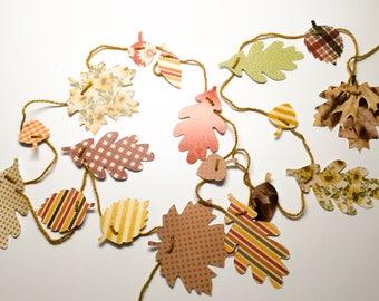 18 Leaf Garland - Colorful Leaves - Fall Leaves garland - Thanksgiving decoration - adjustable garland - fall garland - autumn garland