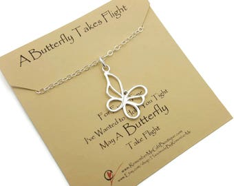 Memorial and Sympathy Gift, Loss of Baby Gift, Infant Loss, Memorial Necklace with Butterfly, Sterling Silver Memorial Necklace, Keepsake