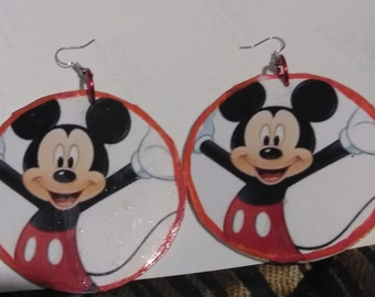 Large mickey mouse earrings