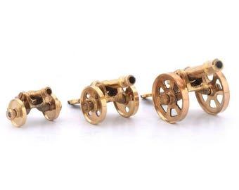 Pure Brass 3 Piece Handicraft Canon Set Gift 151