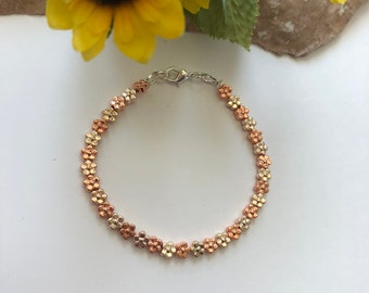 Rose Gold Flower 'Happy Spring' Bracelet - Ladies