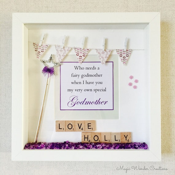 Godmother Frame Personalised Godmother Gift Happy Godmother