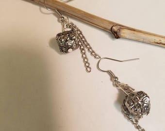 Silver & Chain Earrings